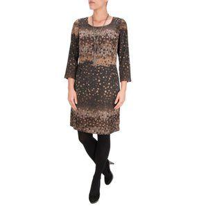 Sandwich_ Clothing Faded Dots Silky Sheath Dress